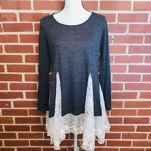 V Cristina Knit Lace Blouse